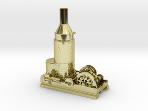 HO Steam Donkey Willamette Iron & Steel Works in 18K Yellow Gold