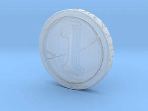 Hearhstone Coin V2 in Smooth Fine Detail Plastic