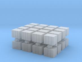 Concrete Bricks Pile (x32) 1/350 in Smooth Fine Detail Plastic