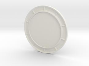 1/64 Highway concrete barrier solar display in White Natural Versatile Plastic