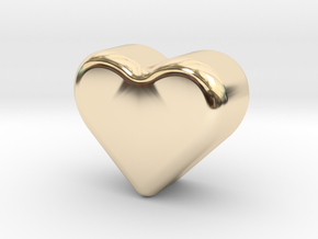Heart Token, Miniature in 14K Yellow Gold