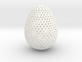 Easter Egg Square in White Processed Versatile Plastic
