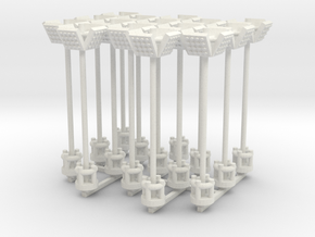 Airport Flood Lights Style 1 - Various Scales in White Natural Versatile Plastic: 1:400