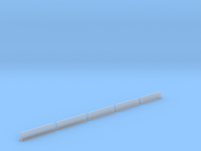 5 Highway Barriers (1:160) in Smooth Fine Detail Plastic