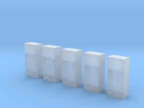 5 Ticket machines (1:160) in Smooth Fine Detail Plastic