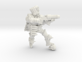 Combat Monk Cossack Grenadier in White Natural Versatile Plastic