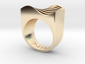 Sine Wave in 14K Yellow Gold
