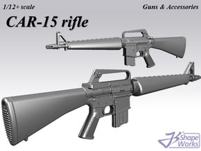 1/9 CAR-15 rifle (model605) in Smoothest Fine Detail Plastic