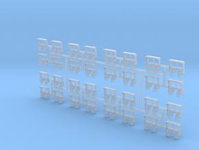 HO RDG Caboose Steps 32-pack in Smoothest Fine Detail Plastic