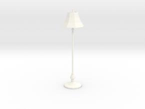 Miniature Dollhouse Floor Lamp 'Finer Fare' in White Processed Versatile Plastic: 1:24