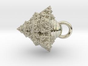 Fractal pendant fix in 14k White Gold
