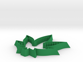 Cannabis Cookie Cutter in Green Processed Versatile Plastic