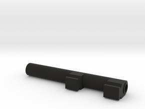 Adaptor - B in Black Natural Versatile Plastic