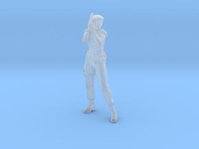 Jill Valentine STARS 34mm miniature model game rpg in Smooth Fine Detail Plastic