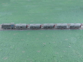Small Tank Car Train 1/285 in Smooth Fine Detail Plastic