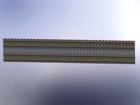 Double Track / Doppelgleis 1/285 6mm in Smooth Fine Detail Plastic