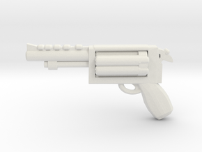 Revolver in White Natural Versatile Plastic
