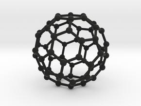 C60 Buckminsterfullerene model in Black Natural Versatile Plastic
