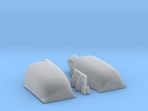 Space shuttle OMS pods in Smooth Fine Detail Plastic