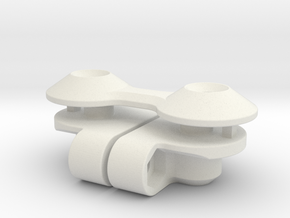 7072 - FF210 Wing Mount in White Natural Versatile Plastic