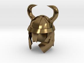 Finger Hat: Viking Helmet in Polished Bronze