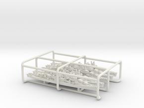 USN DD Fletcher [1943] (bundled set, see desc) in White Natural Versatile Plastic: 1:3000