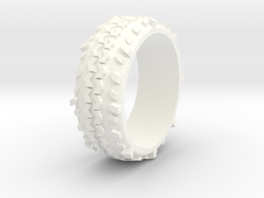 Swamper Tire Ring in White Processed Versatile Plastic