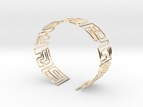 Maze Bracelet Size M in 14K Yellow Gold