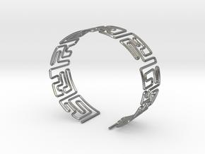 Maze Bracelet Size M in Natural Silver