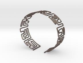 Maze Bracelet Size M in Polished Bronzed Silver Steel