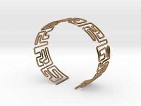 Maze Bracelet Size M in Natural Brass