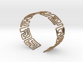 Maze Bracelet Size S in Natural Brass