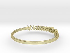 Astrology Ring Gémeaux US6/EU51 in 18K Yellow Gold