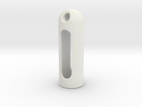 Gold glass jar /vial cover in White Natural Versatile Plastic