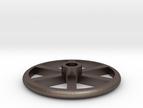 "1.5"" Scale Brake Wheel #2 in Polished Bronzed-Silver Steel"