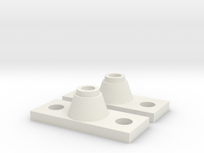 Lambert Car/Walthers Trucks Adapter in White Natural Versatile Plastic