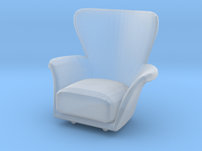 Miniature 1:12 Arcmchair in Smooth Fine Detail Plastic: 1:12