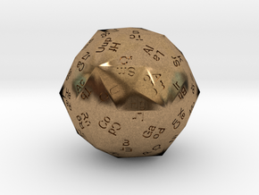 Periodic Die in Natural Brass
