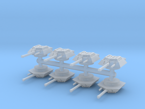 Sdkfz 234-1 turret (x8) 1/285 in Smooth Fine Detail Plastic