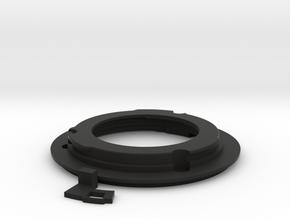 Union Mount with 3mm Aperture Arm in Black Natural Versatile Plastic