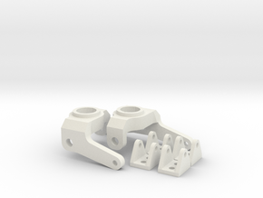 Axial SCX Max-Steering Conversion Kit with 4 shock in White Natural Versatile Plastic