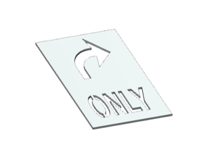 Turn Only Template - HO Scale in Smooth Fine Detail Plastic: 1:87 - HO