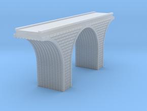 Z Scale Arch Bridge Single Track 1:220 Scale in Smooth Fine Detail Plastic