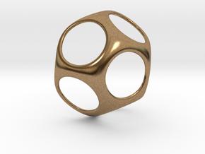 Modern Geometric Pendant in Natural Brass