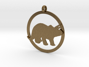 Triceratops charm in Natural Bronze
