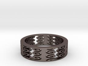 Vertical Swirls (Size 10) in Polished Bronzed Silver Steel