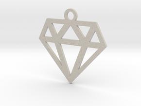 Diamond Lines Necklace Pendant in Natural Sandstone