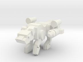Jagwarrior (50% bigger) in White Natural Versatile Plastic