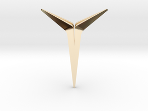 YOUNIVERSAL Sharp, pendant in 14K Yellow Gold