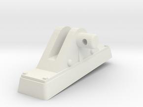 TorpedoTubeElcoSTBD24thFrontSupport in White Natural Versatile Plastic